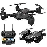 JJggsi4_drone x PRO 5G Selfi WiFi FPV GPS con videocamera quadricottero RC Pieghevole 1080P HD trasmettitore + 2 batterie 7.4 L 850mAh Lipo + Cavo USB 4 eliche + Scatola per Il Trasporto