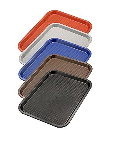 Serviertablett aus Polypropylen, mit Stapelnocken, reycelbar, Säure- und Chemiekalienresistent/in rot, grau, blau, braun oder schwarz mit unterschiedlichen Größen   ERK (A6-40 x 30 x 2 cm, Blau)