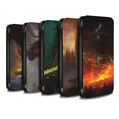 Offiziell Chris Cold PU-Leder Hülle/Case/Tasche/Cover für Apple iPhone 6+/Plus 5.5 / Schiffswrack Muster / Gefallene Erde Kollektion Pack 8pcs