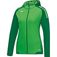 Jako Basic–Champ de chaqueta con capucha de, primavera/verano, mujer, color soft green/Sportgrün, tamaño 34