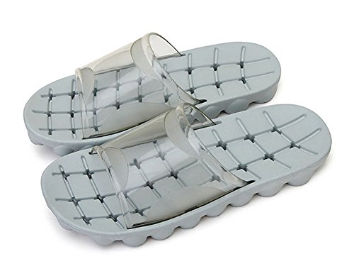 Auspicious beginning Adultes Douche anti-dérapante confortable Chaussons de plage Piscine Sandales trous gris