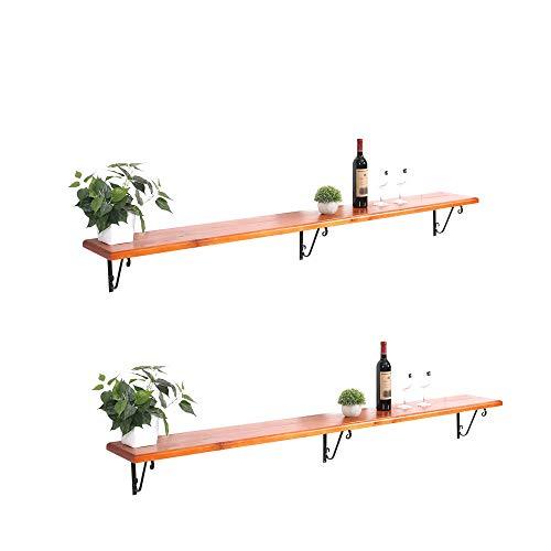 YZT QUEEN Weinregal zur Wandmontage, Weinregal aus massivem Holz, für Bars geeignet, tägliche Heimdekoration,winerackB(200 * 25cm)