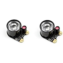 Wavesahre 2pcs Infrared LED Light 140 Degree Wider Field of View 3W High Power 850 Infrared IR Led Module with Onboard Photoresistor Adjustable Resistor Designed for Raspberry pi