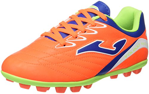 Joma Toledo Jr 608 Naranja Fluor 22 Tacos, Chaussures de Football Garçon Orange fluo