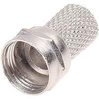 SODIAL(R)20pzs Macho Conector RF de Cable Coaxial Torcido de Tipo F RG6 de CCTV