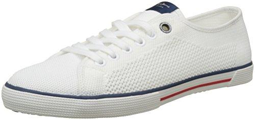 Pepe Jeans Aberman Knit, Sneakers Basses Homme, Bleu