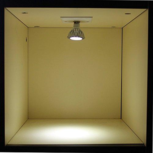 BAOMING MR16 GU5.3 Base COB LED 12V Bombillas Focos halógenos de 50W Bulbos Equivalente Blanco frío 6000k 38 grados de ángulo del haz de alto brillo de 350 lúmenes de ahorro de energía iluminación de la pista empotrada LED Bombillas Pack de 6 unidades