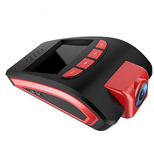 QAX Dashcam Auto Dash Camera 1080P Full HD DREI Bildschirm Anzeige vor und nach der doppelten Aufnahme Starlight-Nachtsichtgerät WiFi der 170 Grad Weitwinkel fährt,Red