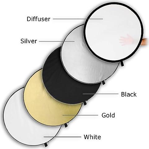 5 in 1 Reflector & Diffuser Studio Set Silver White