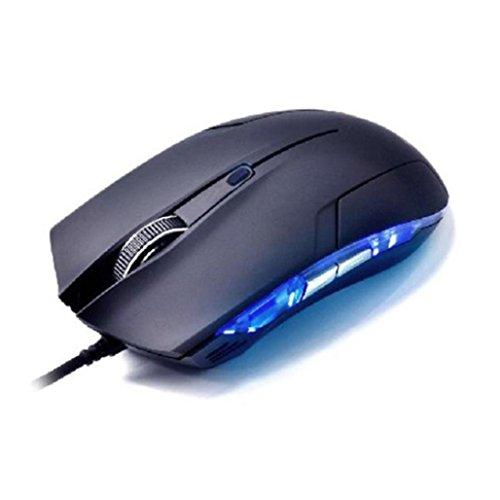 WINWINTOM Cobra óptico 1600 DPI USB con cable juego del juego de ratón para el ordenador
