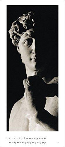 Genius Michelangelo: DAVID by Aurelio Amendola - Panorama Zeitlos Kalender - 46 x 100 cm