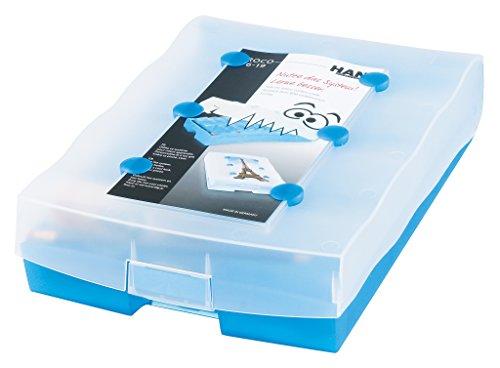"""Preisvergleich Produktbild HAN 9988-643, Lernsystem CROCO 2-6-19, Vokabeln mit System ins Langzeitgedächtnis durch das Prinzip """"Kästchenschieben"""", transluzent-blau"""