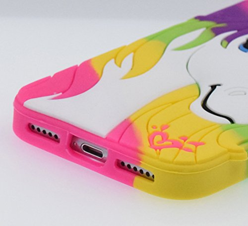 iPhone 6/6S 4.7 Custodia, BENKER (Unicorno) Alta Qualità 3D Cartone Animato Morbido Silicone Gel Antiurti Copertura Telefono Caso - Colorful Colorful