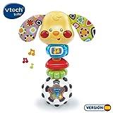 VTech- Toby Perrito Sonajero Electrónico con Luz Y Voz, Multicolor, Talla Única (3480-184722)