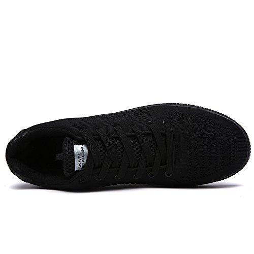 Baskets Basses Mixte Adulte Chaussures de Skateboard Sport Athlétique Sneakers Noir Blanc Vert Noir