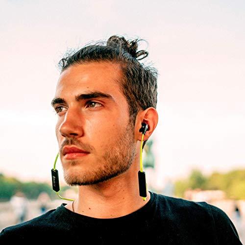 KLIM Pulse Bluetooth 4.1 In-Ear Kopfhörer 2019 Version Kabellose Kopfhörer – Geräuschreduzierung – Perfekt für Sport, Musik, Anrufe, Gaming – Magnetisch Memory Schaum Ohrstöpsel Grün - 3