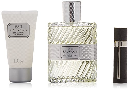Dior Eau Sauvage Gift Set Edt 100 Ml Spray + Mini 3 Ml + Shower Gel 50 Ml