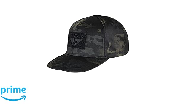 a798389c71f Condor Men s Flat Bill Snapback Cap Multicam Black  Amazon.co.uk  Clothing