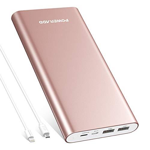 POWERADD Powerbank 20000mAh, hohe Kapazität Externer Akku mit 2 Input und 2 Output für iPhone, Sumsung, Huawei