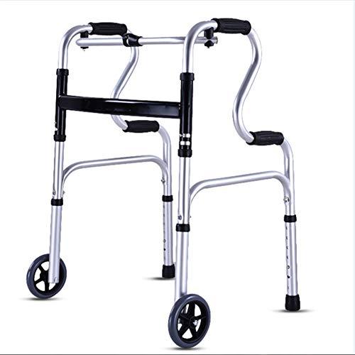 Drive Medical Deluxe Faltbarer Walker mit zwei Tasten und 5-Zoll-Rädern,915B