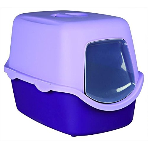 trixie-vico-cat-litter-tray-with-dome-40-x-40-x-56-cm-purple-lilac
