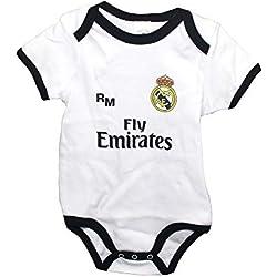 Real Madrid FC Body Niños - Producto Oficial Primera equipación 2018/2019 (1 Mes)