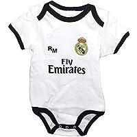 Real Madrid FC Body Niños - Producto Oficial Primera equipación 2018 2019 -  Personalizable - 03f32cb361006