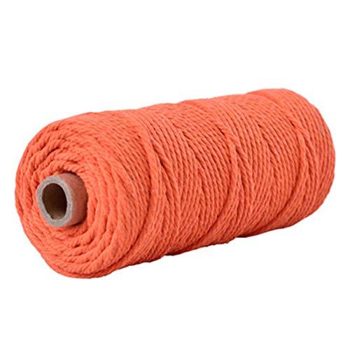 Eigene Sie Erstellen Katze Ihre Kostüm - Makramee-Schnur 3 mm 4 mm - schwarz-grau-weiße Baumwollschnur - Makramee-Muster - Bastelgarn Seil 4mm Orange