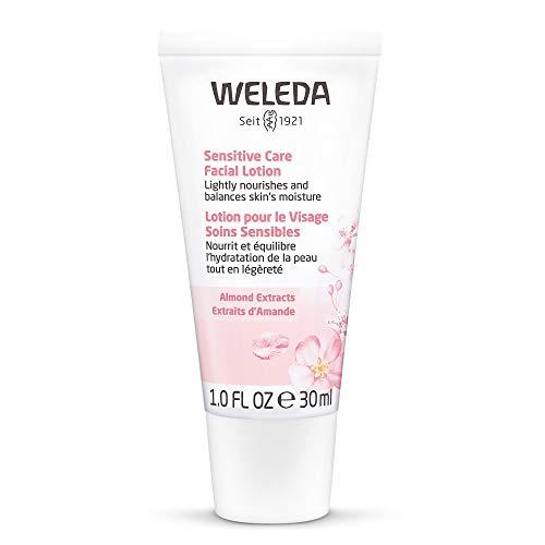 WELEDA Mandel Wohltuende Gesichtscreme, Naturkosmetik Feuchtigkeitscreme zur Pflege trockener, empfindlicher und sensibler Haut im Gesicht und am Hals für einen gesunden Teint (1 x 30 ml)