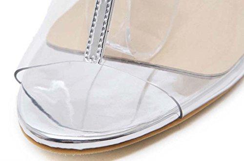 SHEO sandali con tacco Ms. tacco alto con bocca di pesce spessa con sandali femminili Pulire
