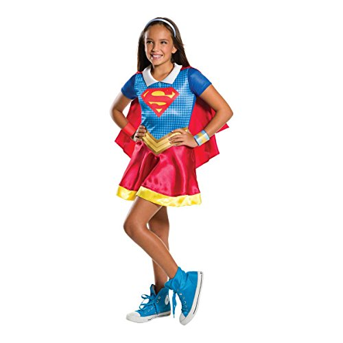 Rubie's 3620742 - DC Super Hero Girls Supergirl Kinderkostüm - Größe  L( 8-10 - Offizielle Super Hero Kostüm