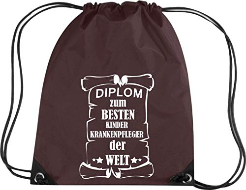 Camiseta stown Premium gymsac Diploma para mejores infantil Enfermeras del Mundo, marrón