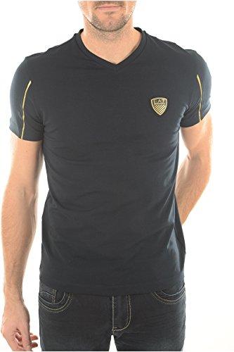 Emporio Armani -  T-shirt - Collo a V  - Maniche corte  - Uomo blu L