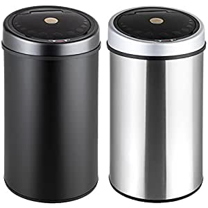 tectake luxus sensor abfalleimer m lleimer diverse gr en 50 liter edelstahl. Black Bedroom Furniture Sets. Home Design Ideas