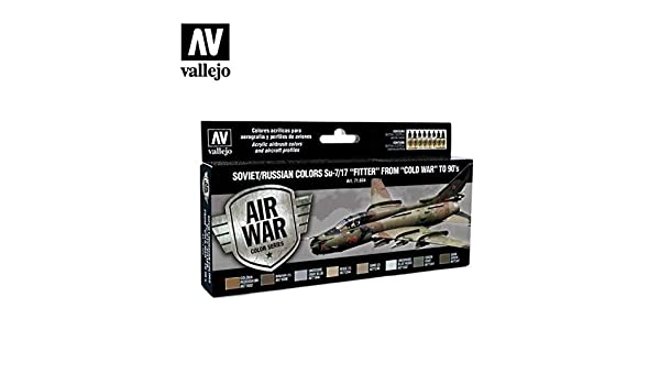 Vallejo Model Air Val71604 Soviet//Russian Su-7//17 /'Fitter/'  8 colour paint set
