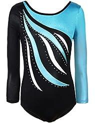 c91aff661036 Reefa Girls One Piece Ballet Athletic Gymnastics Leotards Dance Wear