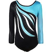 BOBORA Enfant Manches Longues Dancewear Vetements de Gymnastique Bodysuit  Ballet Justaucorps 8e11eccf7f7