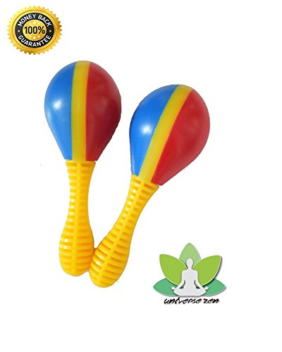 Maracas for Kids - Pair of maracitos for babies (Set of 2) The first instruments for childrens by Universe Zen