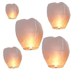 """Night Sky Lanterns"" (TM) White Sky Candles (Pack of 5)"