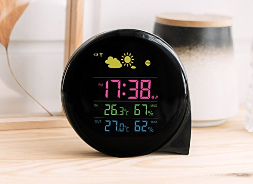 Sveglia universale lufthansa con termometro e funzione torcia