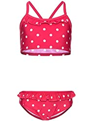 NAME IT - Maillot deux pièces - Fille rose Rosa Bright Rose