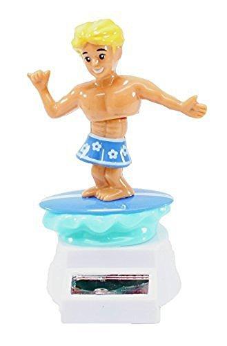 Bailando hawaiana Hula Boy Alola o surf boy en color azul nadar tronco coche decoración cumpleaños juguete solar [1Pk, estilo random/color]