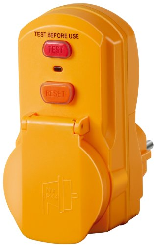 Brennenstuhl 1290660 Personenschutz-Adapter BDI-A 2 30 IP54, 230 V, gelb