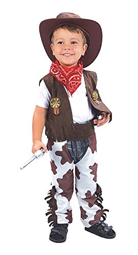 6Cowboy Kleinkind Kostüm, weiß, XS, Alter: ca. 2-3Jahre, Cowboy Kleinkind (Baby Boy Cowboy-outfit)
