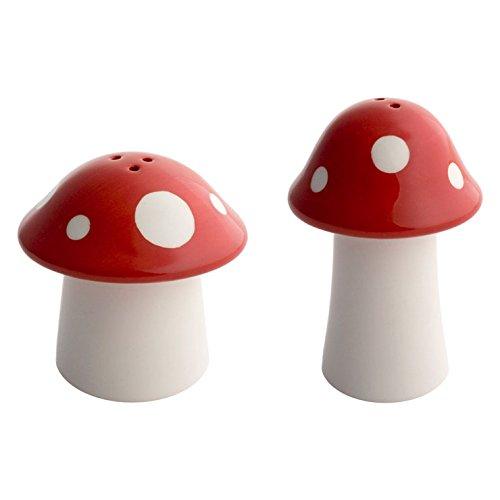 balvi Salz- und Pfefferstreuer-Set Mushroom Weiß/Rot Bestehend aus 1 Salzstreuer und 1 Pfefferstreuer In Pilzform Keramik
