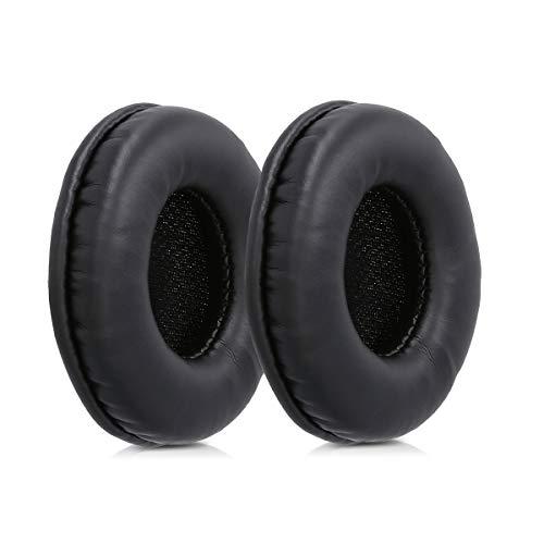 kwmobile 2X Ohrpolster für Sony MDR-V150 / V250 / V300 Kopfhörer - Kunstleder Ersatz Ohr Polster für Sony Overear Headphones thumbnail