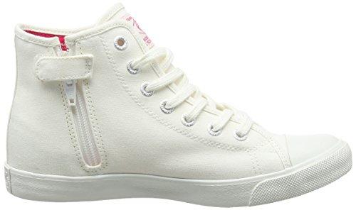 Replay Fulton, Baskets hautes fille Blanc - Weiß (WHITE 61)