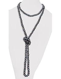 009efd525fe05c Vifaleno Collana di perle d'acqua dolce catena maglione, naturale, nero,  patata
