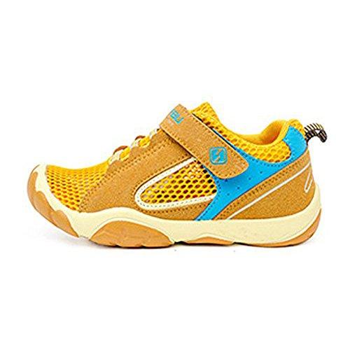 Kinder Shoes Trekking Schuhe Velour Junge Gelb Bequemer Leichter Schuh Sneaker Outdoor f眉r Breathable Lauf Wander Sportlich M盲dchen r7rtwqnH