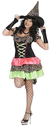 Hexe Wendy Kostüm mit Punkten für Damen Gr. 36 38